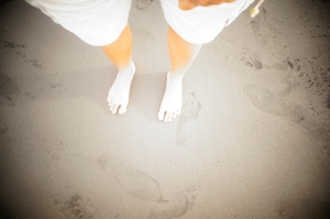 White feet at Karangasem